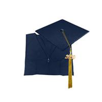 Graduation Cap & Gown Image