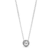 Round Sparkle Halo Necklace Image