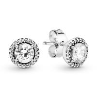 Round Sparkle Stud Earrings Image