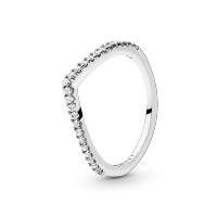 Sparkling Wishbone Ring Image